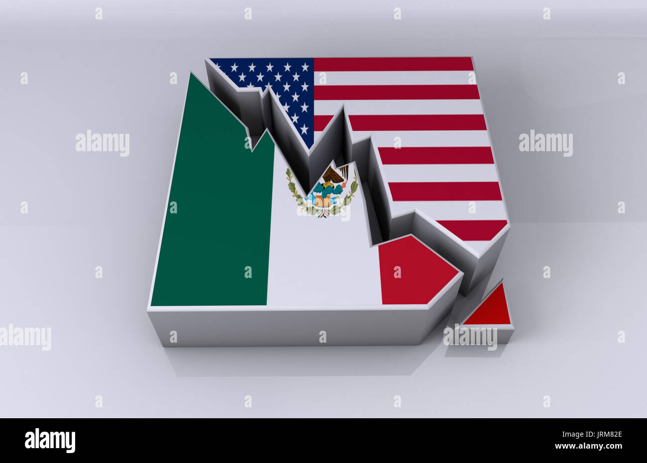 Mexico and USA business relations Stock Photo