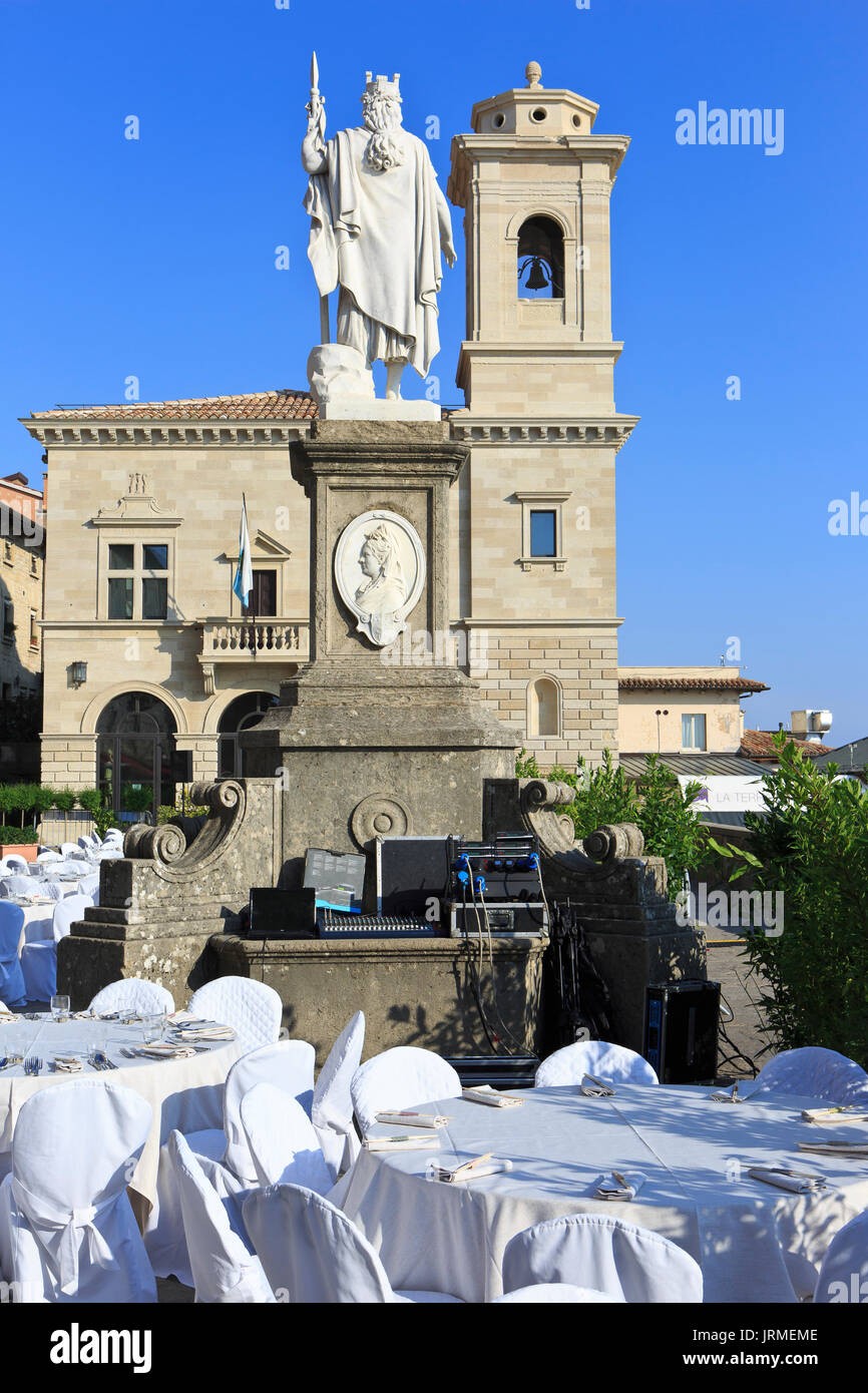 A private reception at Liberty Square in San Marino - Stock Image
