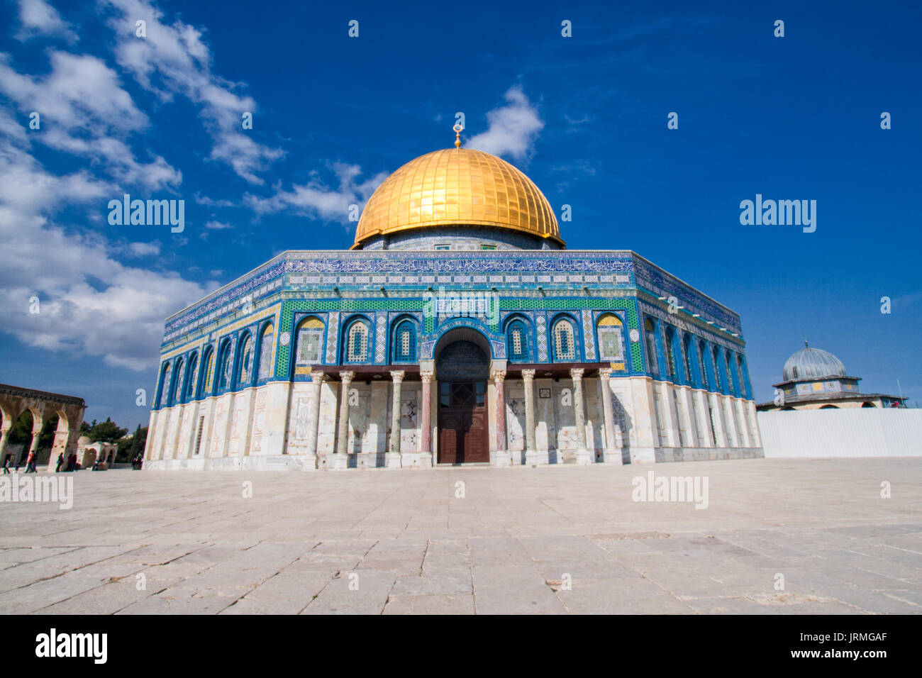 Entrance of the Dome of the Rock on the Temple Mount in Jerusalem, Israel - Stock Image