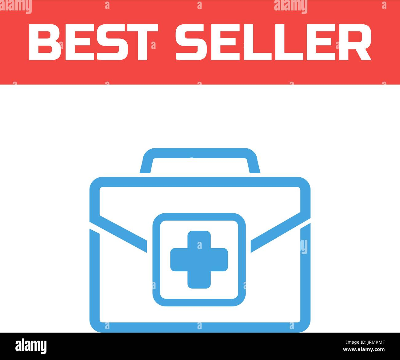 Medicine bag icon. Single high-quality outline symbol for web design or mobile app. Thin line sign for design logo. Blue pictogram on white. - Stock Vector