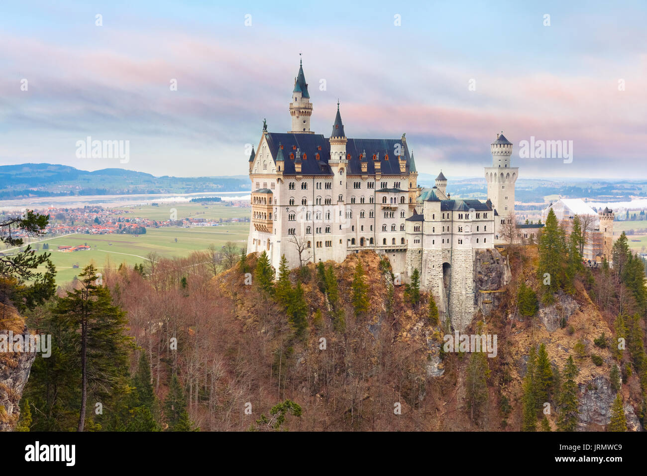 Fairytale Neuschwanstein Castle, Bavaria, Germany - Stock Image