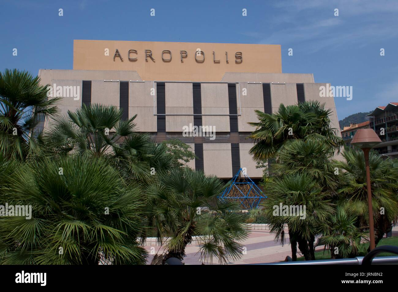 Modern Architectural Facade Of Acropolis Hotel Nice France Stock