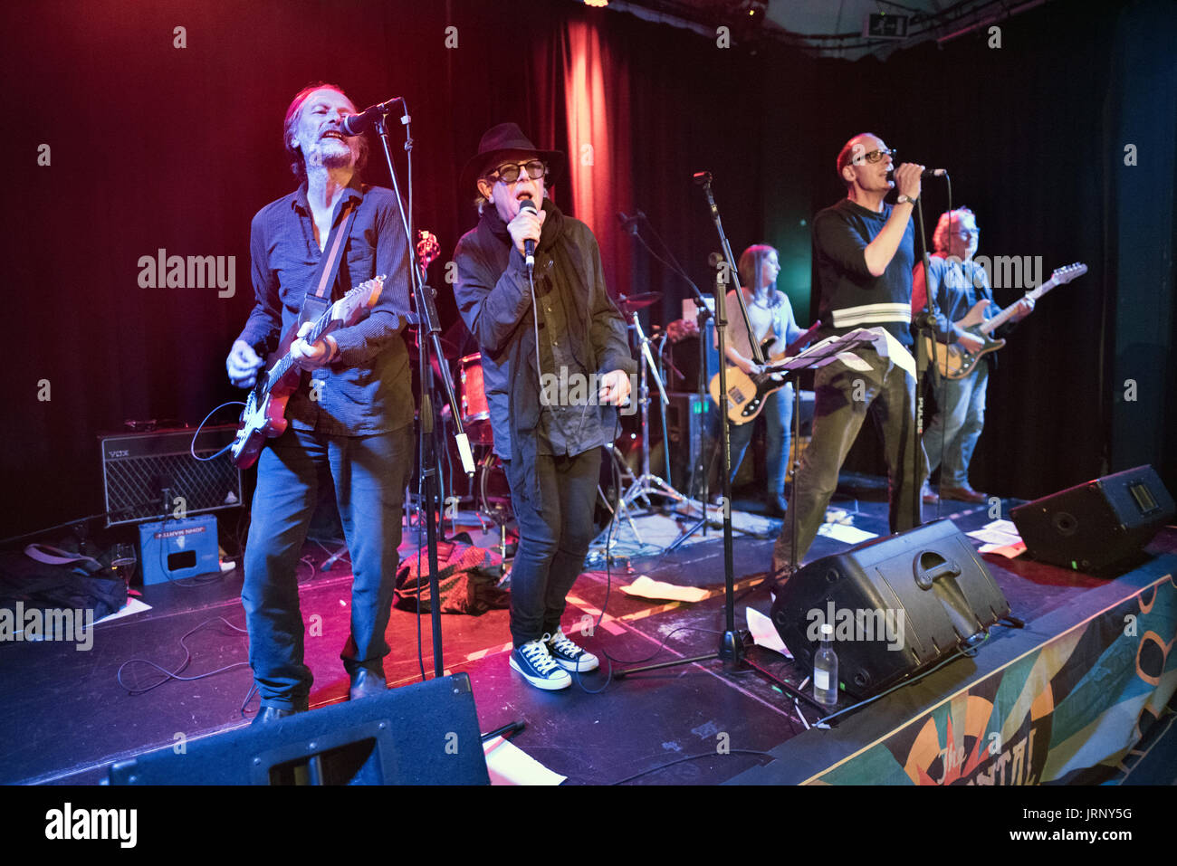 Preston, UK. 05th Aug, 2017. The Mekons play a gig at The Continental, Preston, UK. The original 1970s line-up of the band have reformed for a number of UK concerts, playing some of their punk classic like 'Dan Dare' and 'Where were you'. - Stock Image