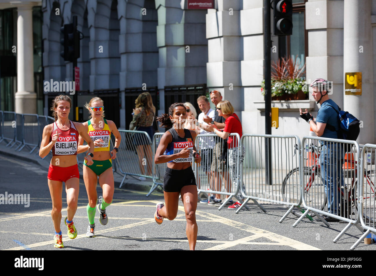 August 6th 2017 World Athletics Championship in London. IAAF women marathon 06/08/2017 started at 2pm local time. Stock Photo