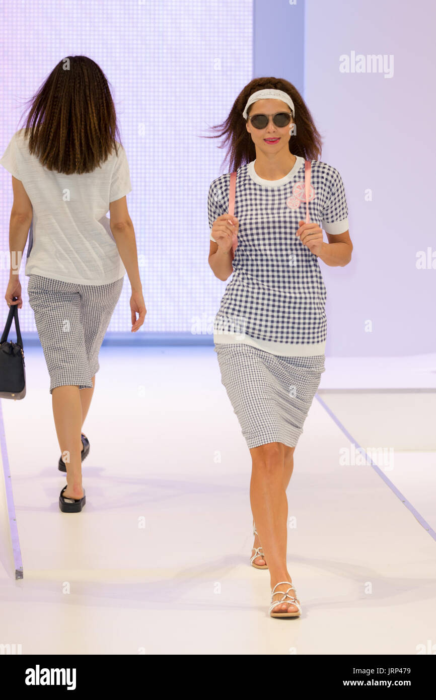 dc580d3601 Emreco Spring Summer Collection for 2018 is showcased at the Moda Fashion  Exhibition at the National Exhibition Centre Birmingham in August 2017  Credit  ...