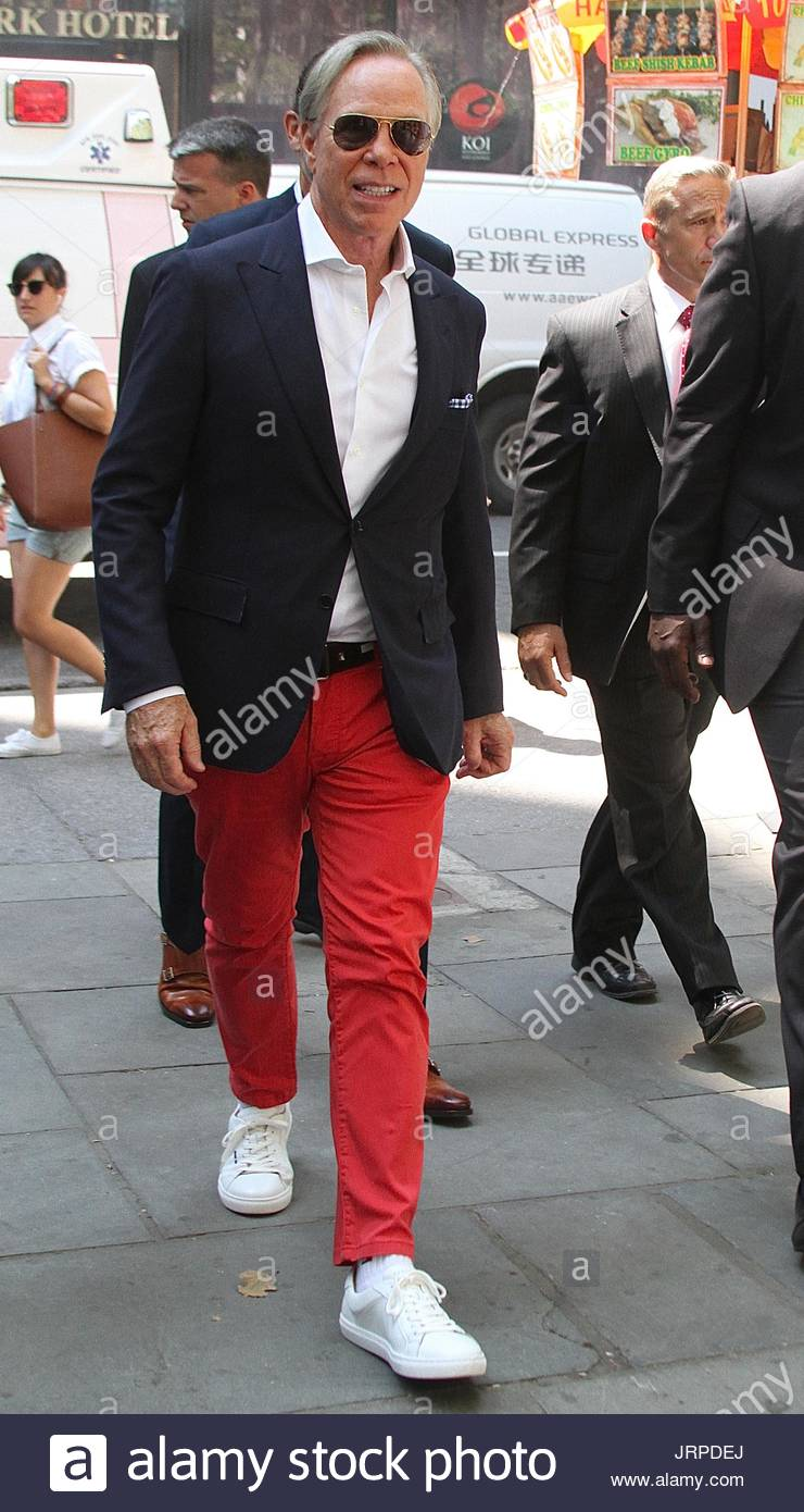 3ad35bdb1 Tommy Hilfiger. Fashion designer Tommy Hilfiger arrives at the Tommy  Hilfiger And Rafael Nadal Global Brand Ambassadorship Launch in Bryant Park  in NYC