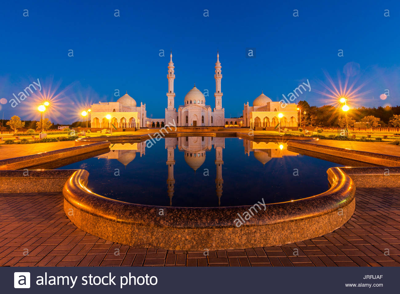 white mosque in the Bulgar Bolghar, Bolgar , Tatarstan, Russia - Stock Image