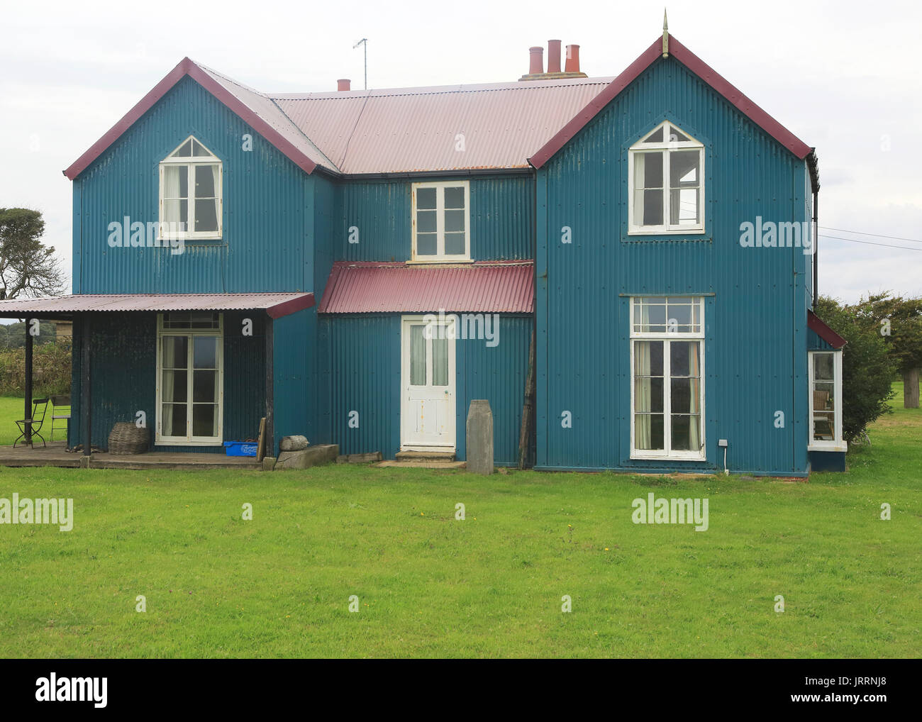 Corrugated Iron House High Resolution Stock Photography And Images Alamy