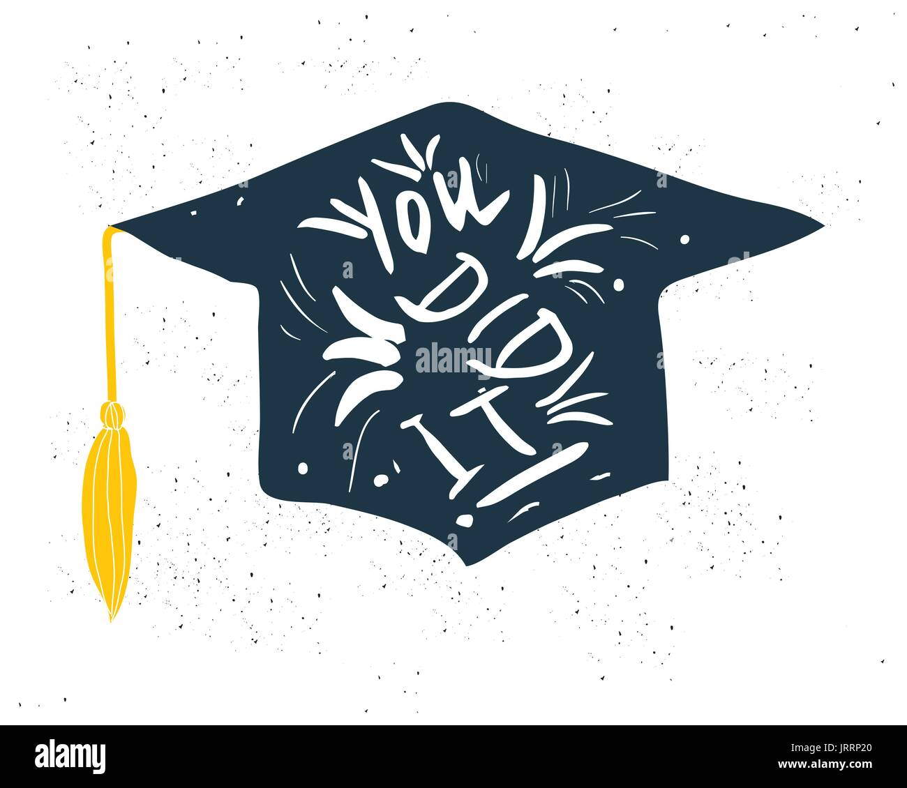 Greeting Card With Congratulations Graduate Completion of Studies - Stock Vector