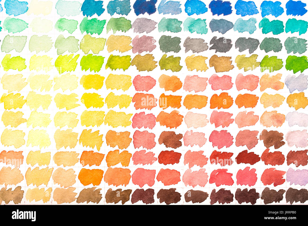 Grey And Orange >> Colour Palette With Watercolours Red Yellow Green Blue Grey And
