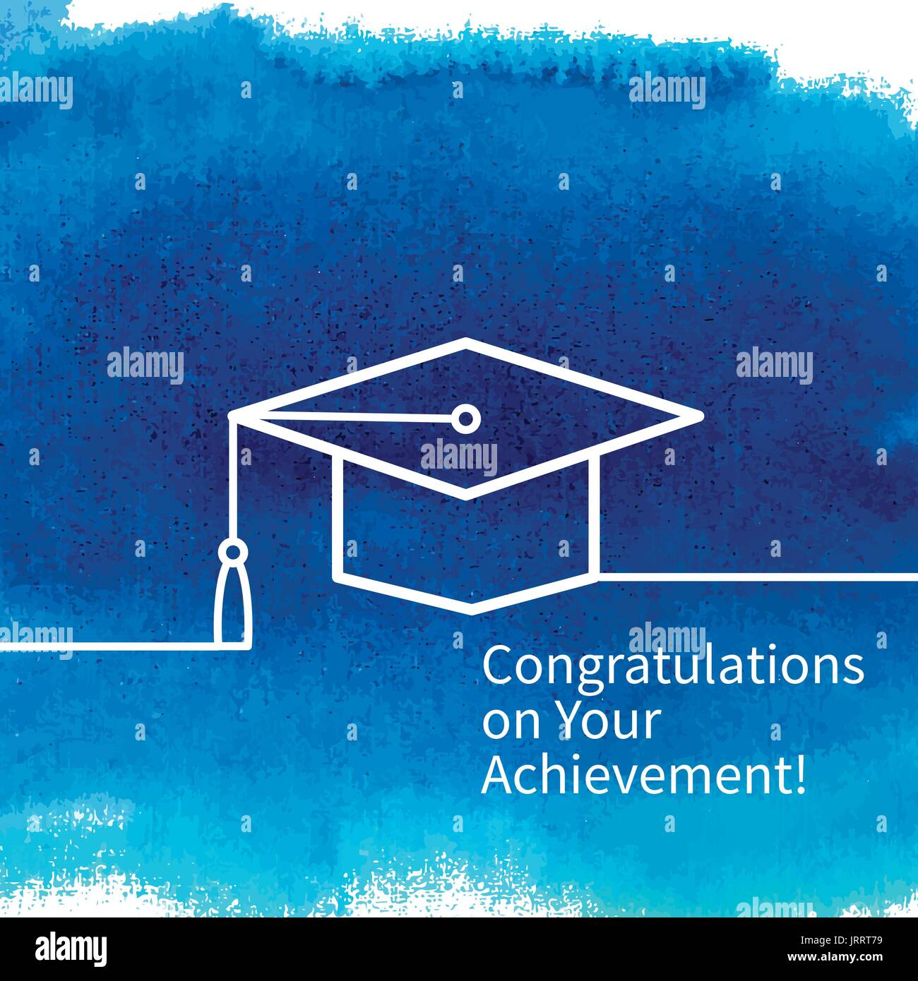 Greeting card with congratulations Graduate completion - Stock Image