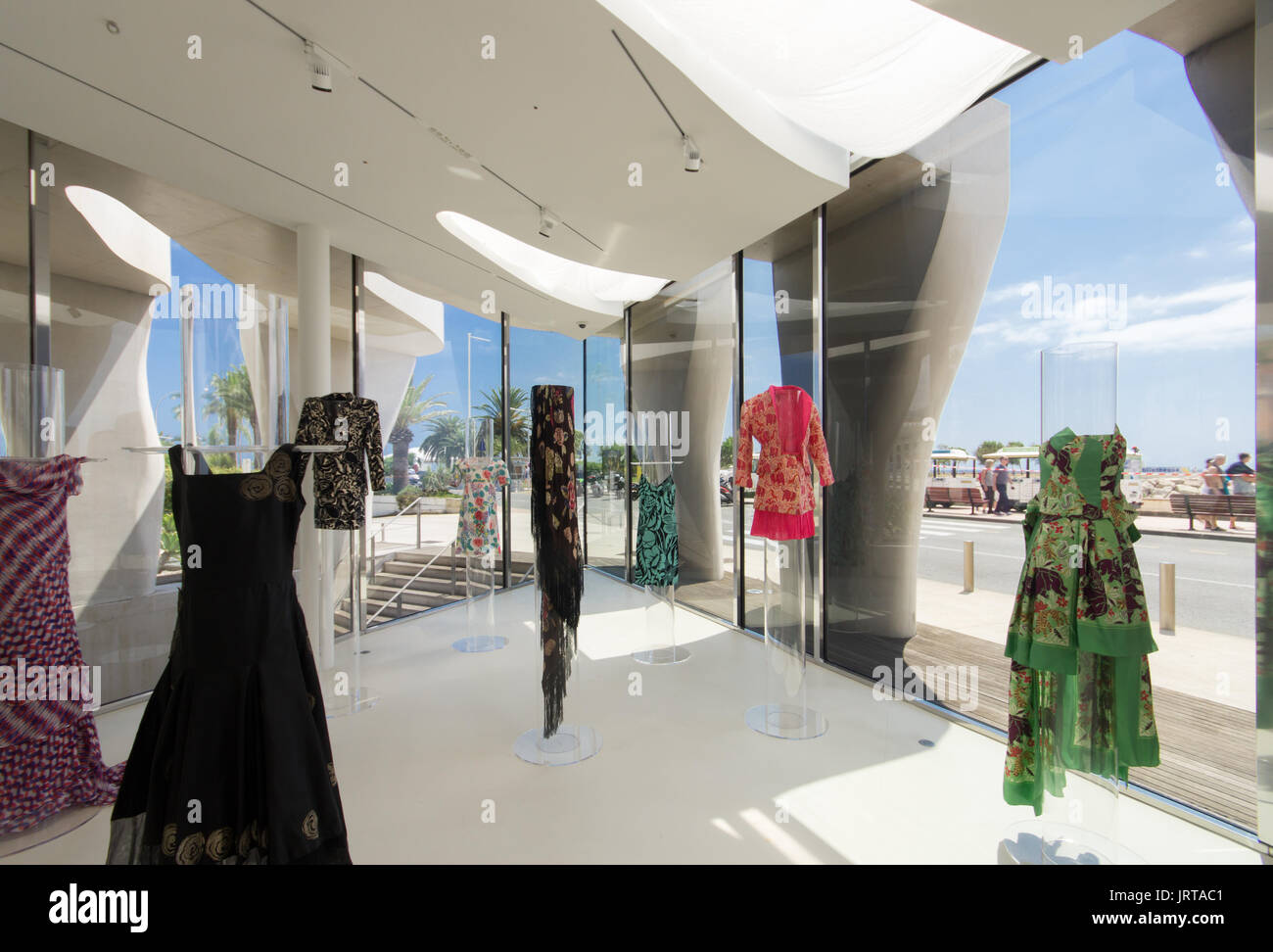 Jean Cocteau Museum, Menton, French Riviera: architect Rudy Ricciotti Raoul Dufy fashion exhibition 1 Inexhibit - Stock Image