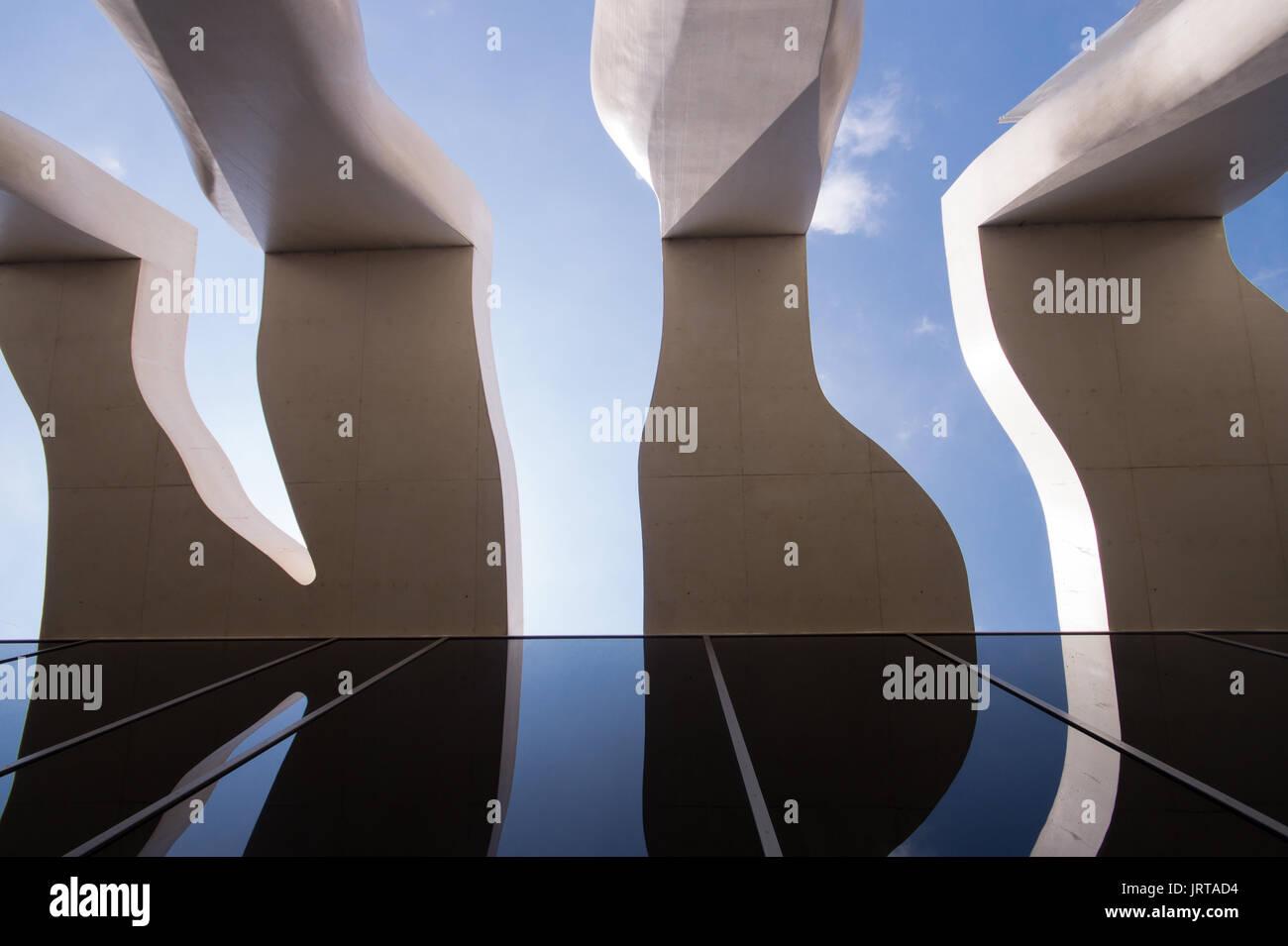 Jean Cocteau Museum, Menton, French Riviera: architect Rudy Ricciotti exterior 1 Inexhibit - Stock Image