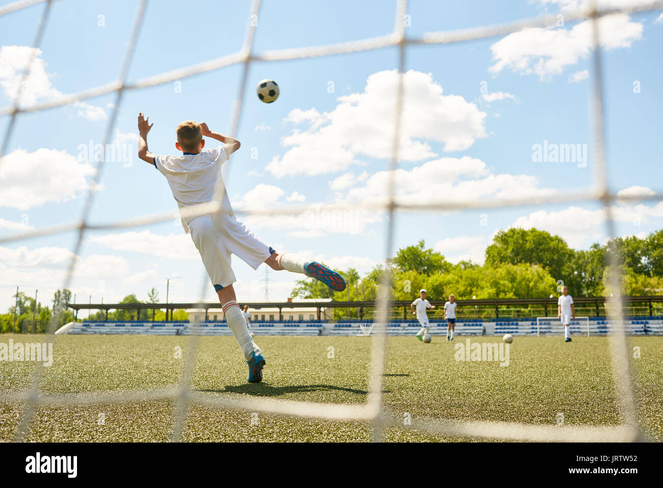 Teenage Goalkeeper - Stock Image