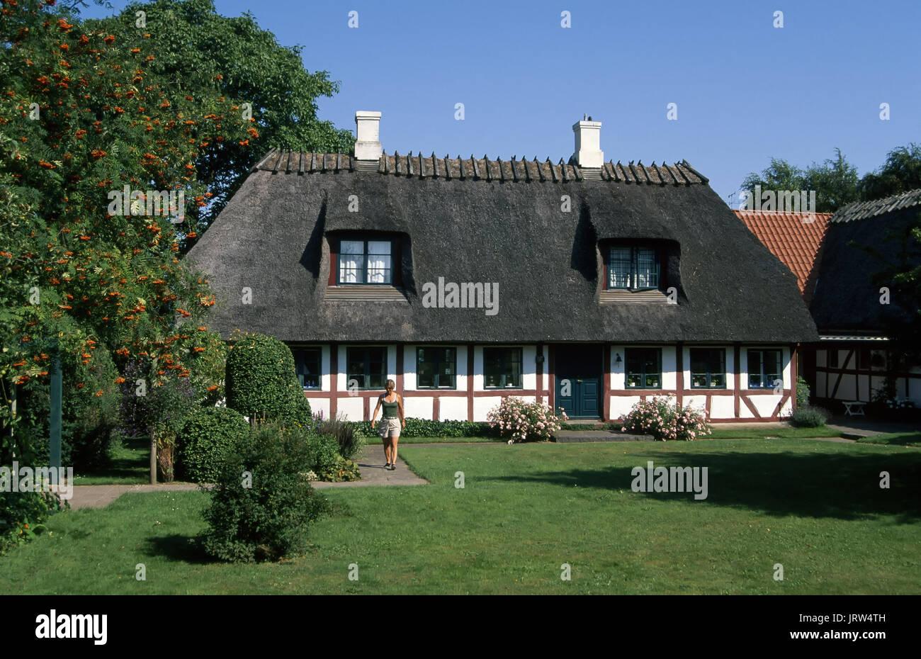 Framed house on Thuroe island near Svendborg, Fyn, Denmark, Scandinavia, Europe Stock Photo