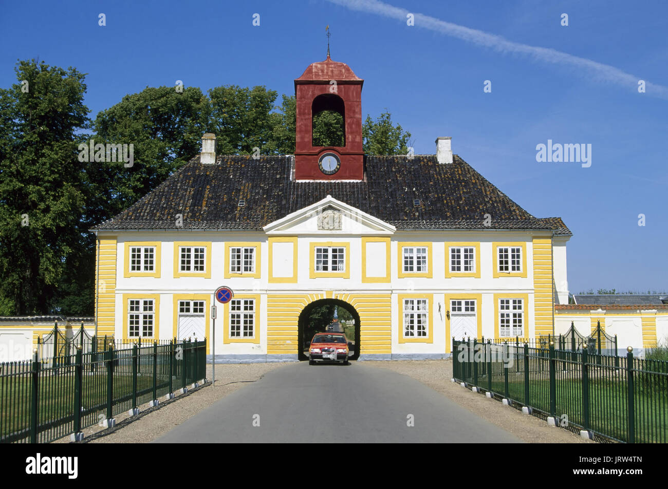 Gate house of Waldemars Slot on Tasinge island, Fyn, Denmark, Scandinavia, Europe Stock Photo