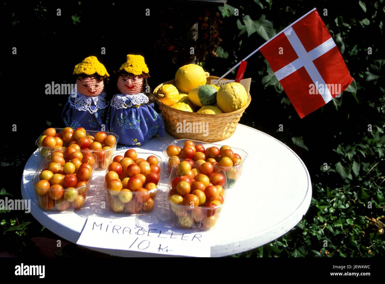 Street shop, Fyn, Denmark, Scandinavia, Europe - Stock Image