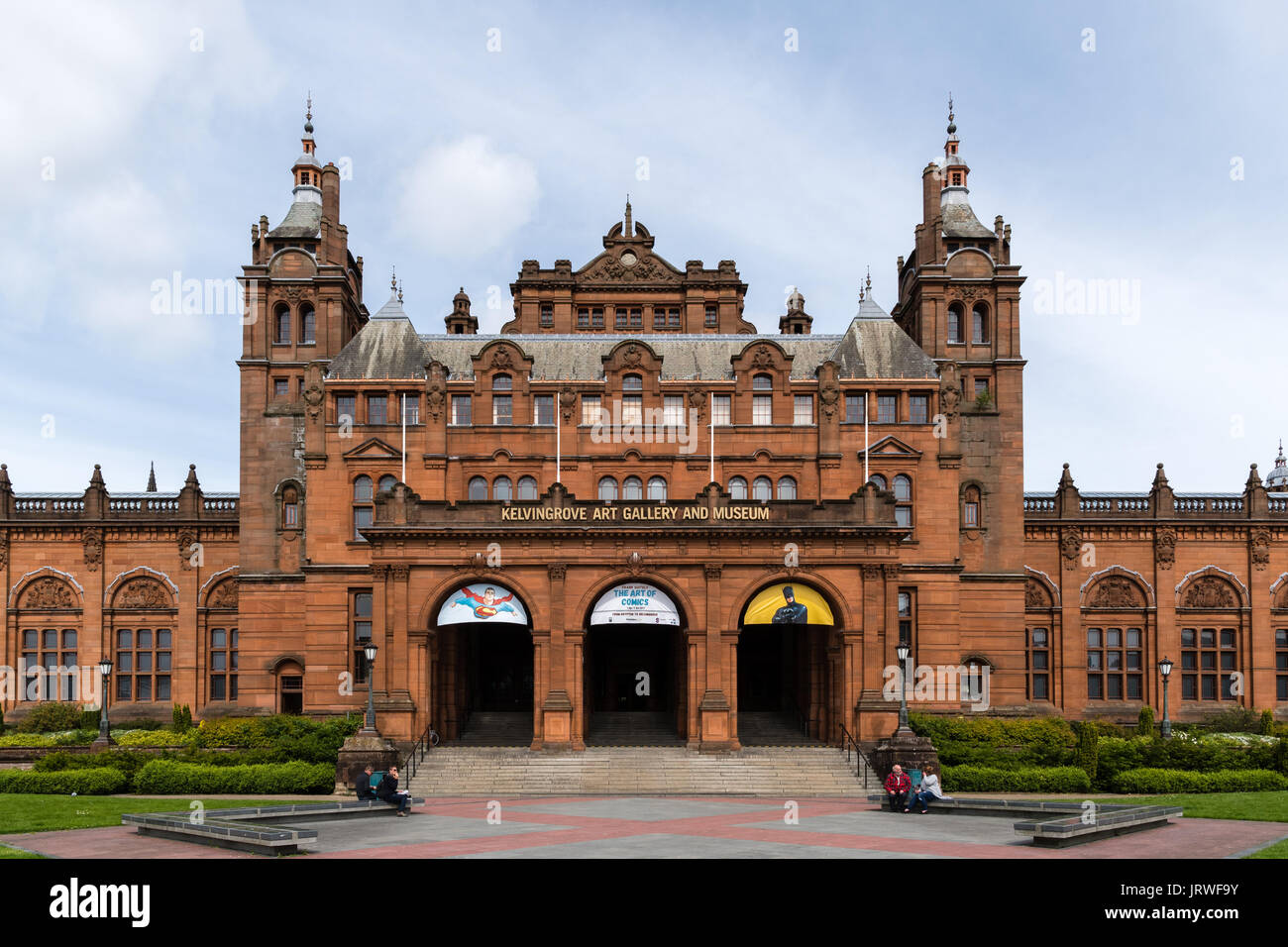 Kelvingrove Art Gallery and Museum Glasgow - Stock Image