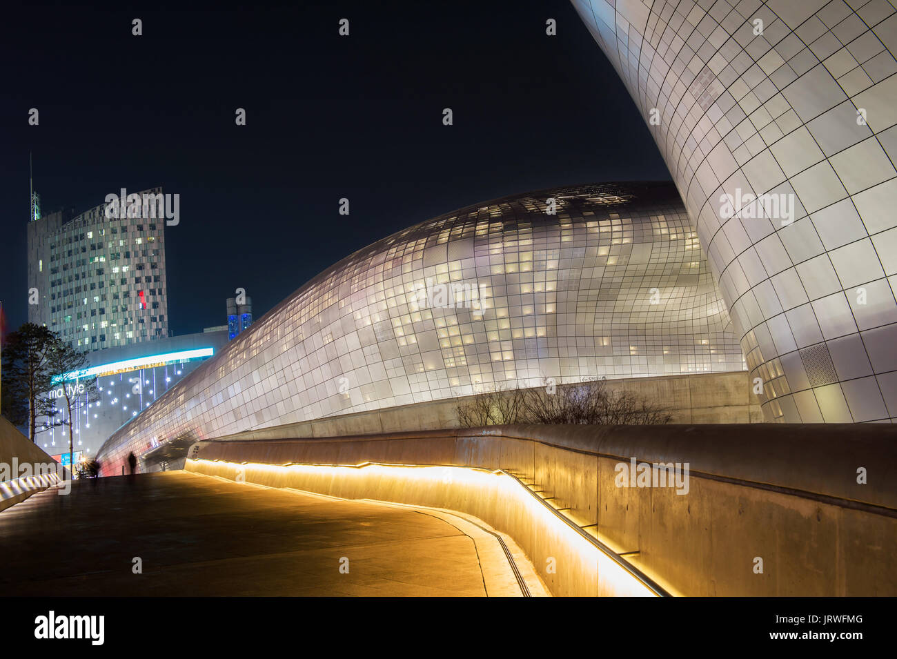 Seoul South Korea February 3 Dongdaemun Design Plaza Is