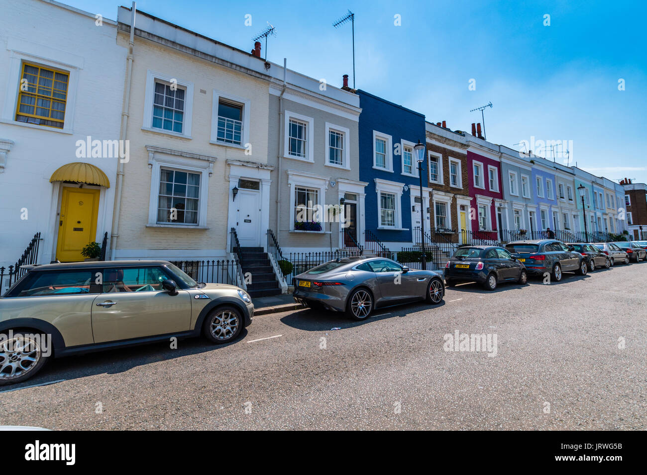 Hillgate Place in Notting Hill London - Stock Image