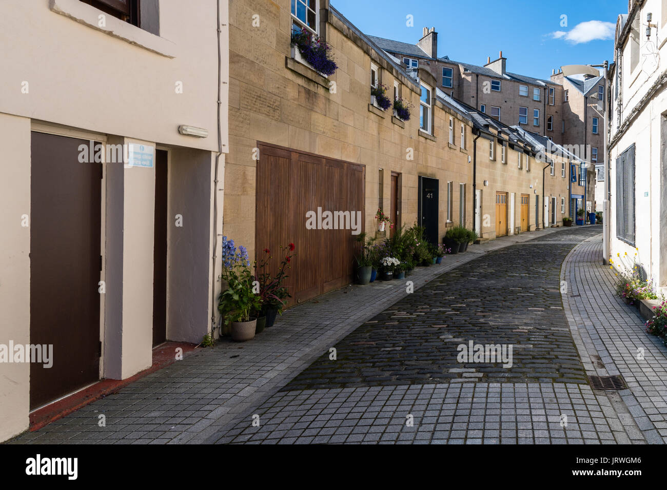Park Terrace Lane Glasgow - Stock Image