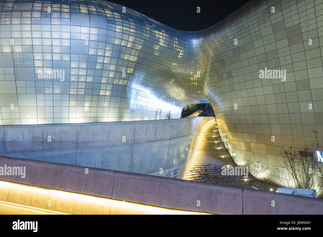 Seoul South Korea March 15 Dongdaemun Design Plaza Is A