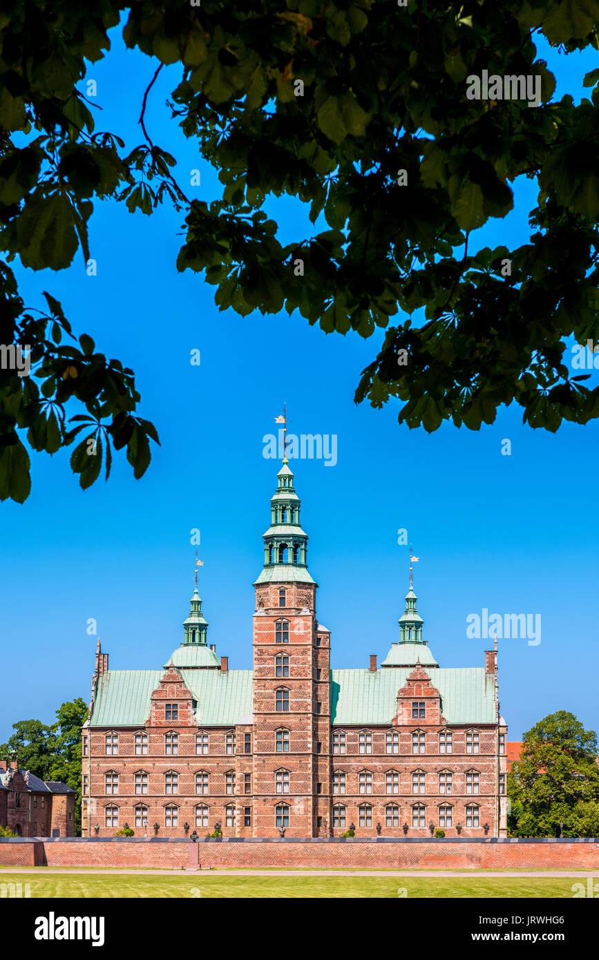 Rosenborg Castle in Copenhagen Denmark - Stock Image