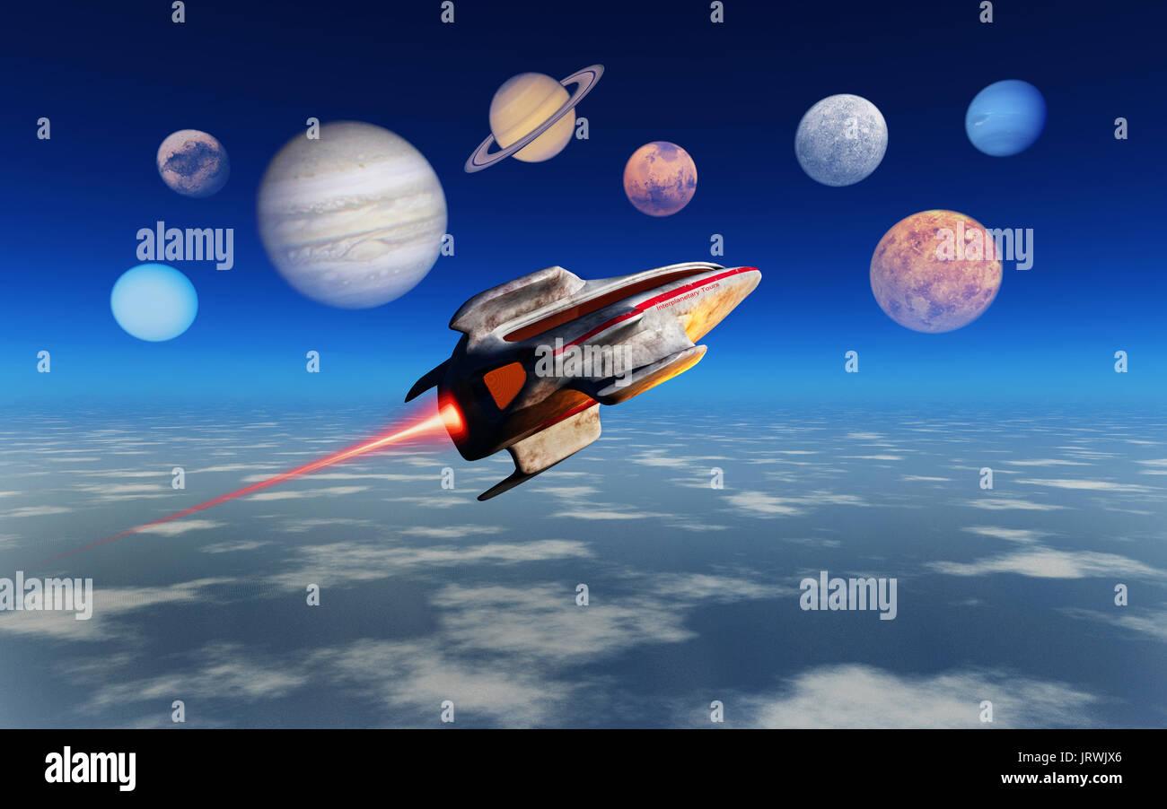 Interplanetary Tours - Stock Image