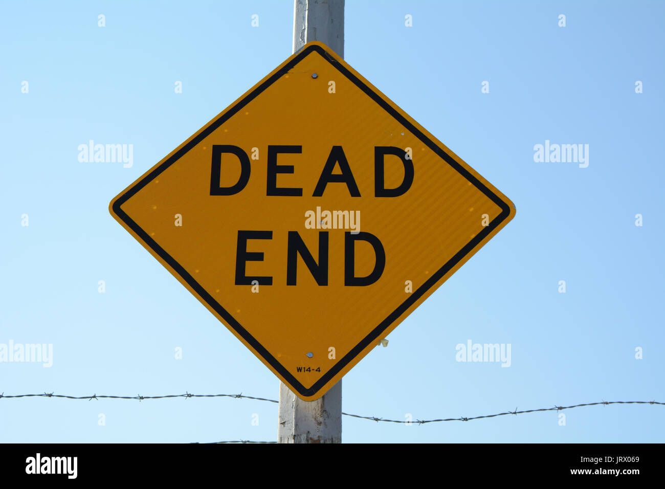 Dead End Street Sign - Stock Image
