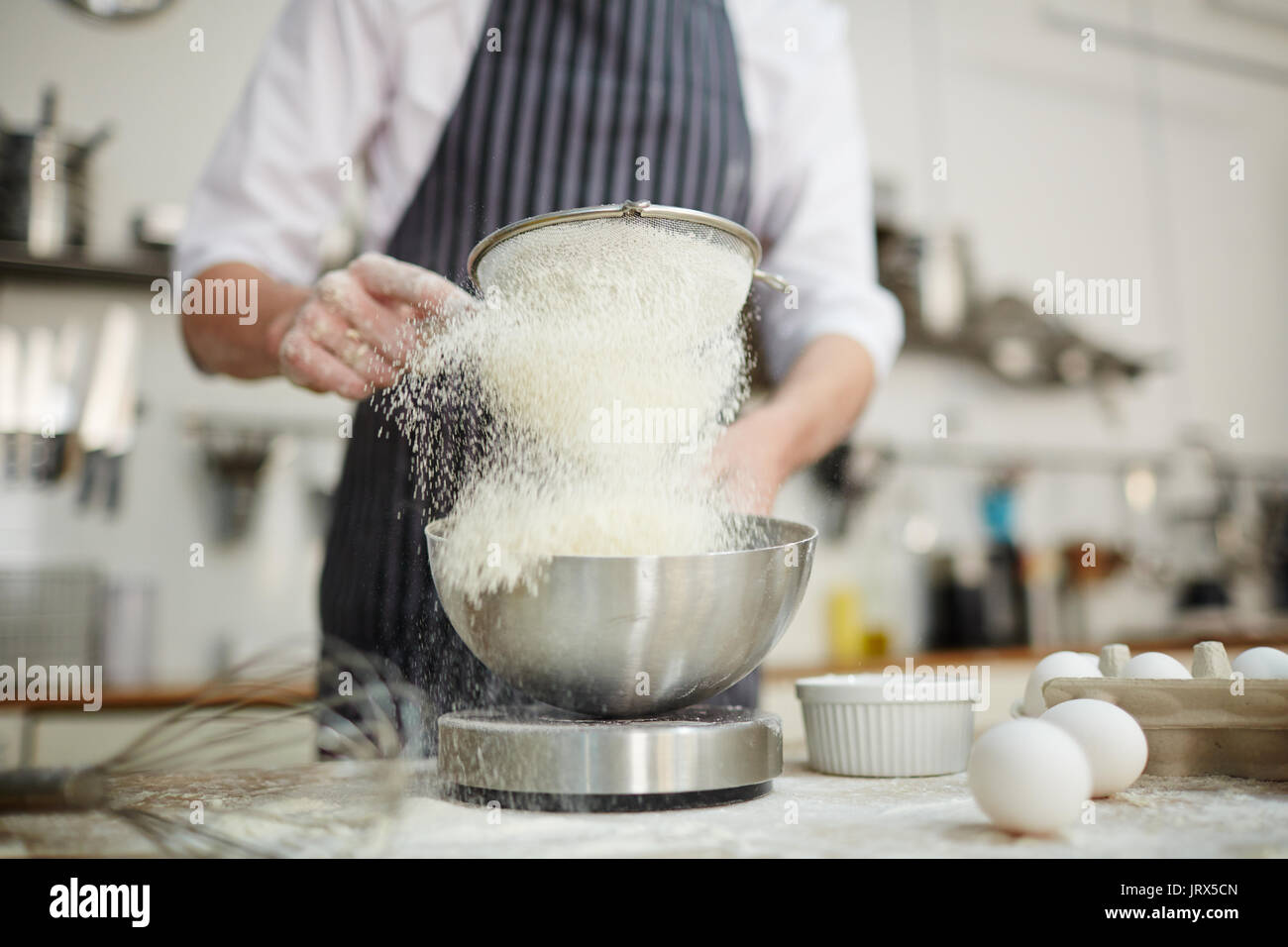Flour for dough - Stock Image