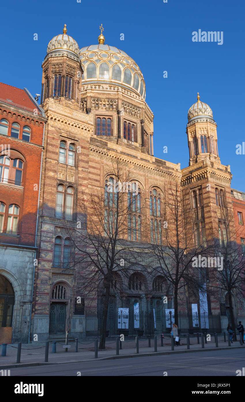 Berlin - The synagogue. - Stock Image