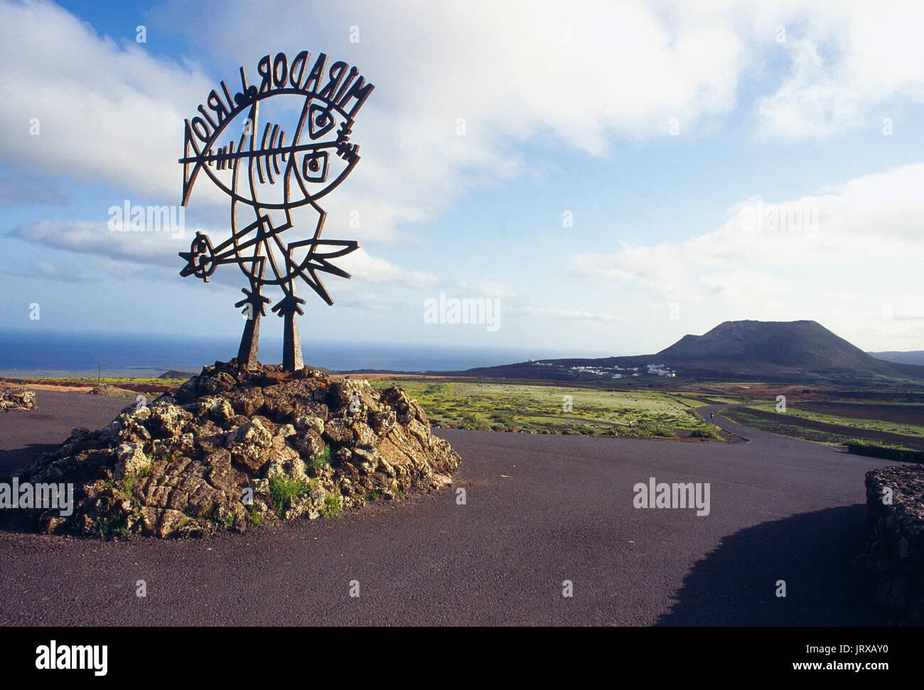 El Rio viewpoint. Lanzarote island, Canary Islands, Spain. - Stock Image
