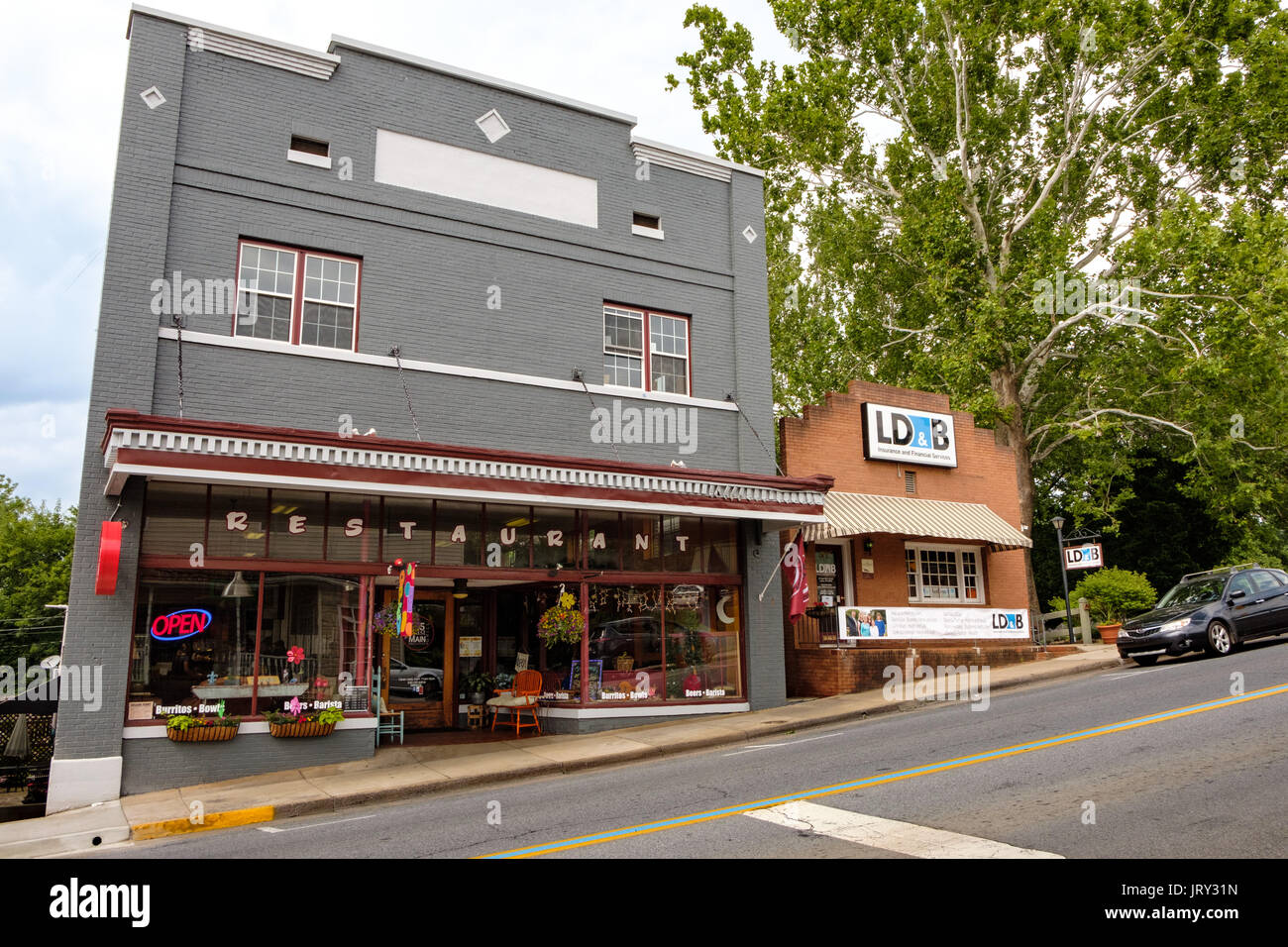55 East Main Street Brew House & Grill, Hudson Hardware Building, Luray, Virginia - Stock Image