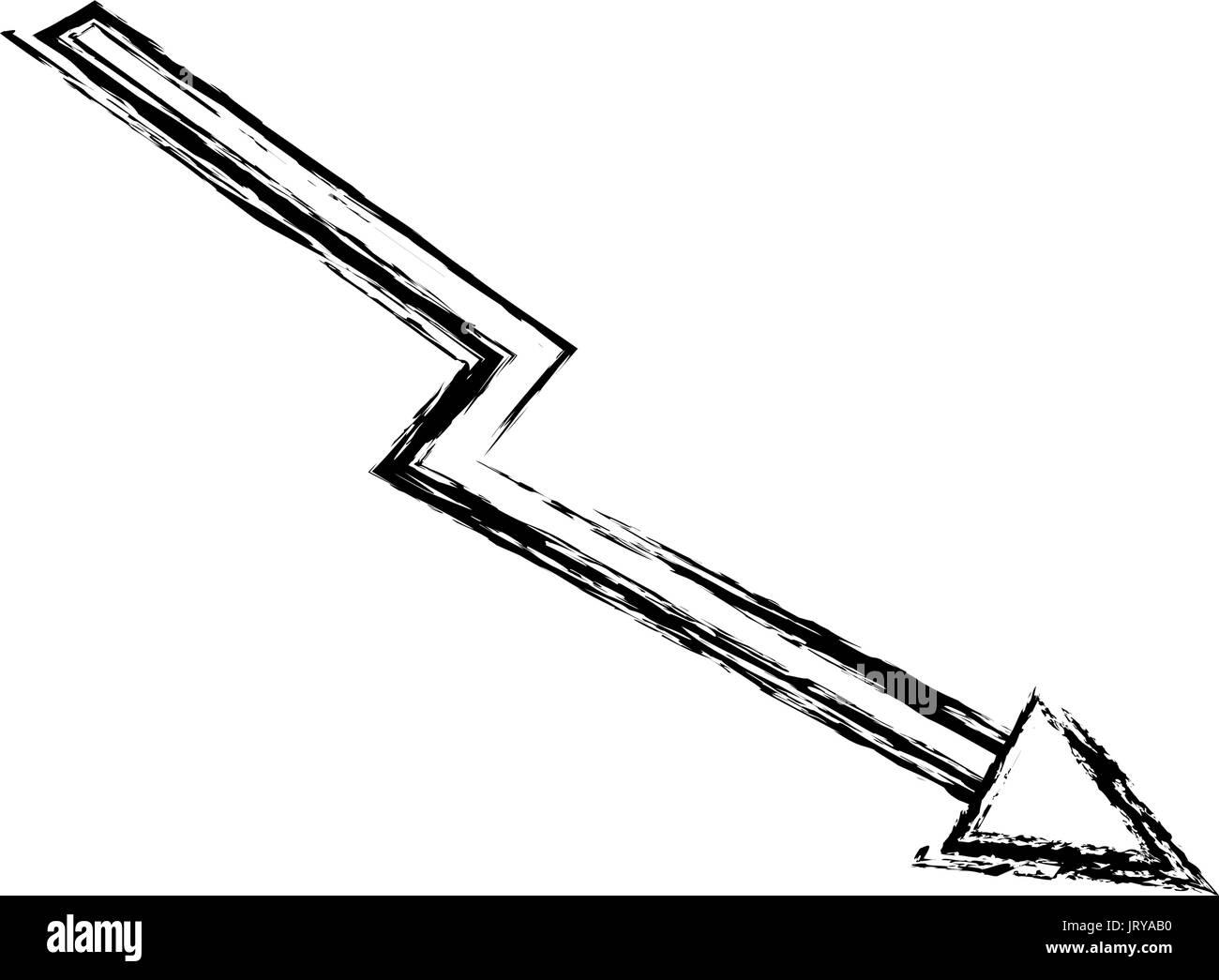 decline arrow business financial crisis down - Stock Vector