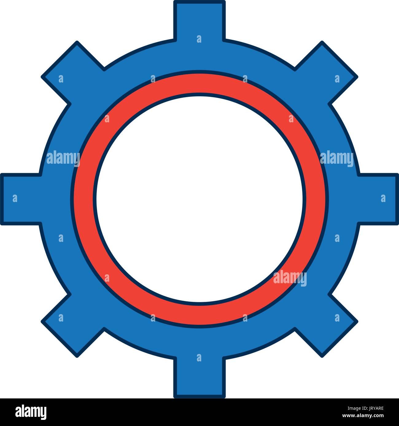 gear working machinery pin progresiruet leading Stock Vector