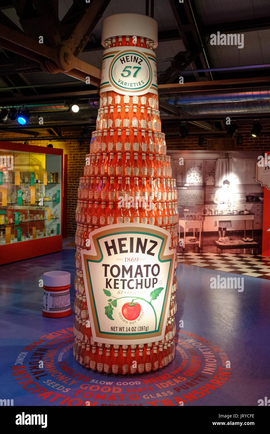 8ecebd673 Large Heinz tomato ketchup bottle with many small bottles attached in the Heinz  History Center,