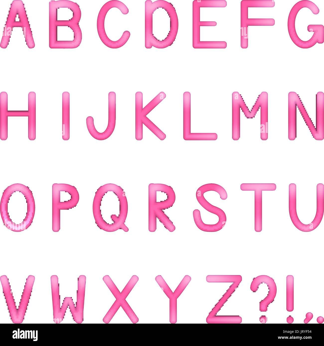 Pink Typeface Stock Photos & Pink Typeface Stock Images - Alamy