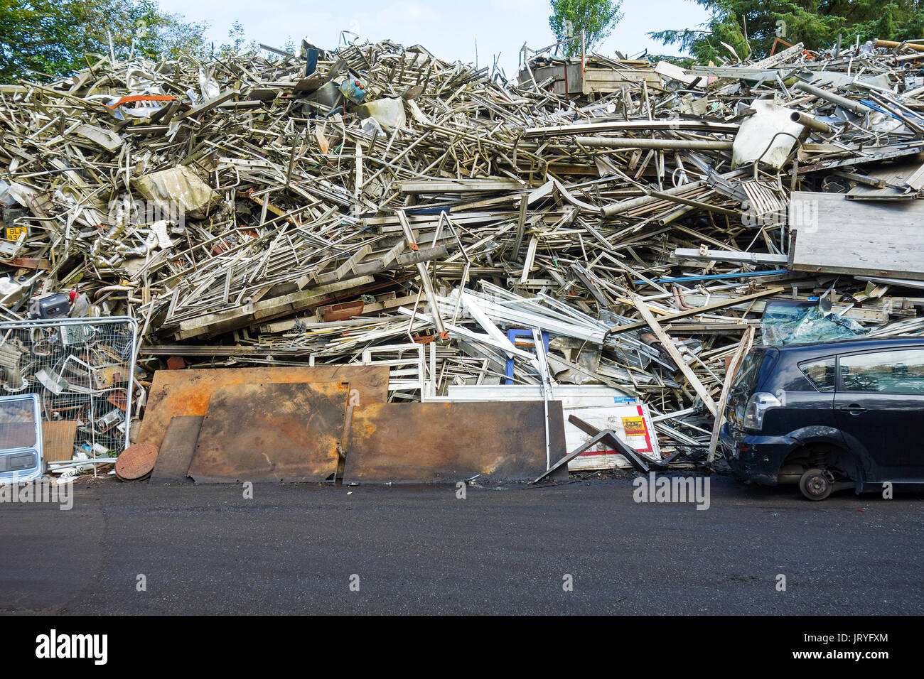 the scrap metal industry - Stock Image