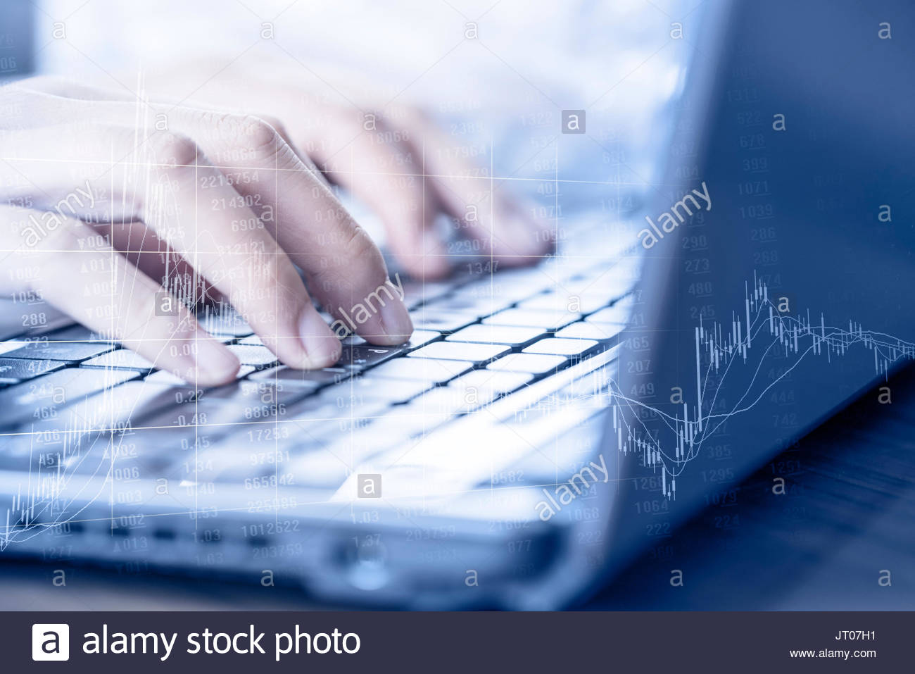 Stock market economy and network finance foreign exchange trading - Stock Image