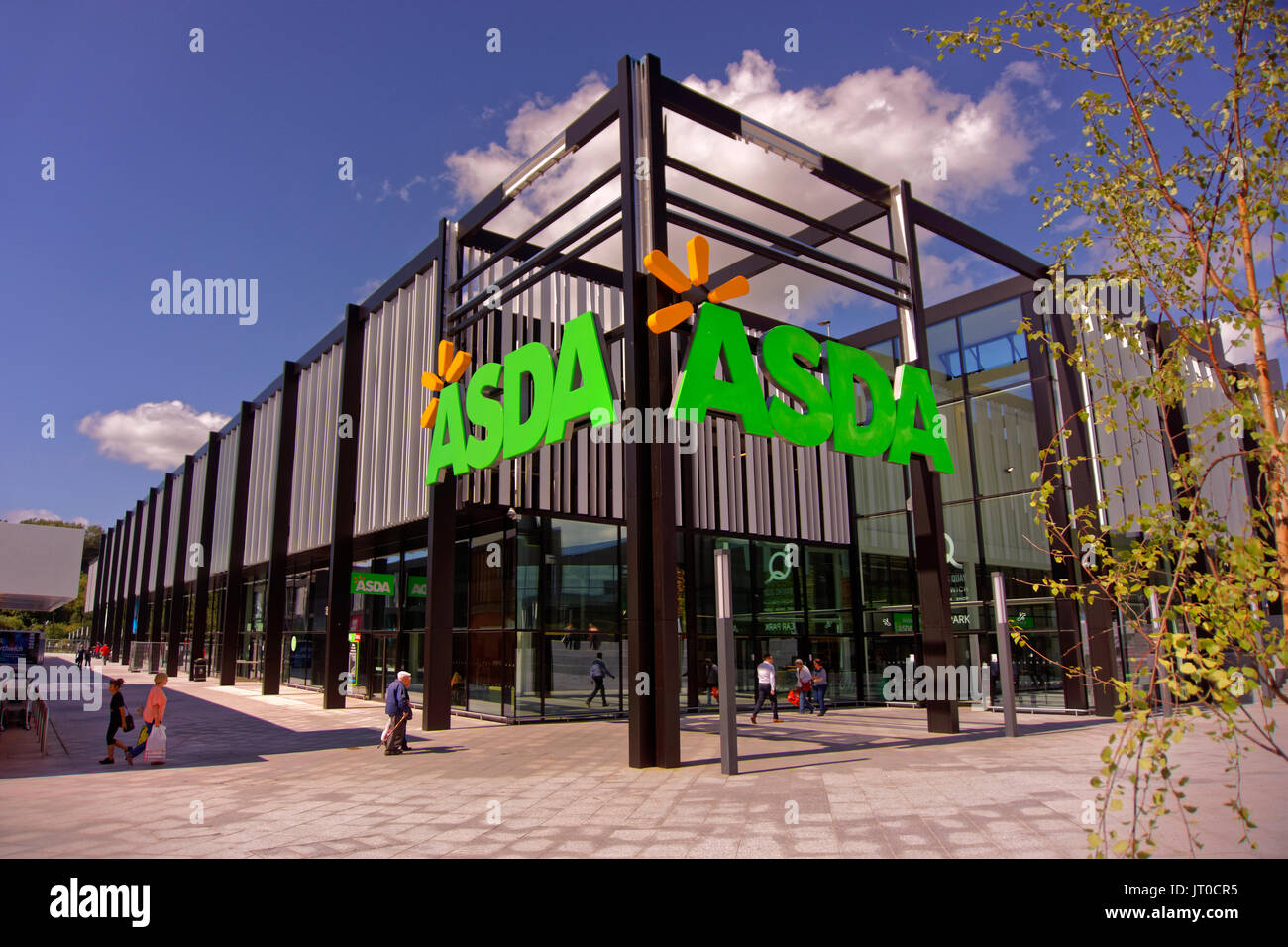 Asda store at the new Barons Quay development at Northwich, Cheshire, England, UK. - Stock Image
