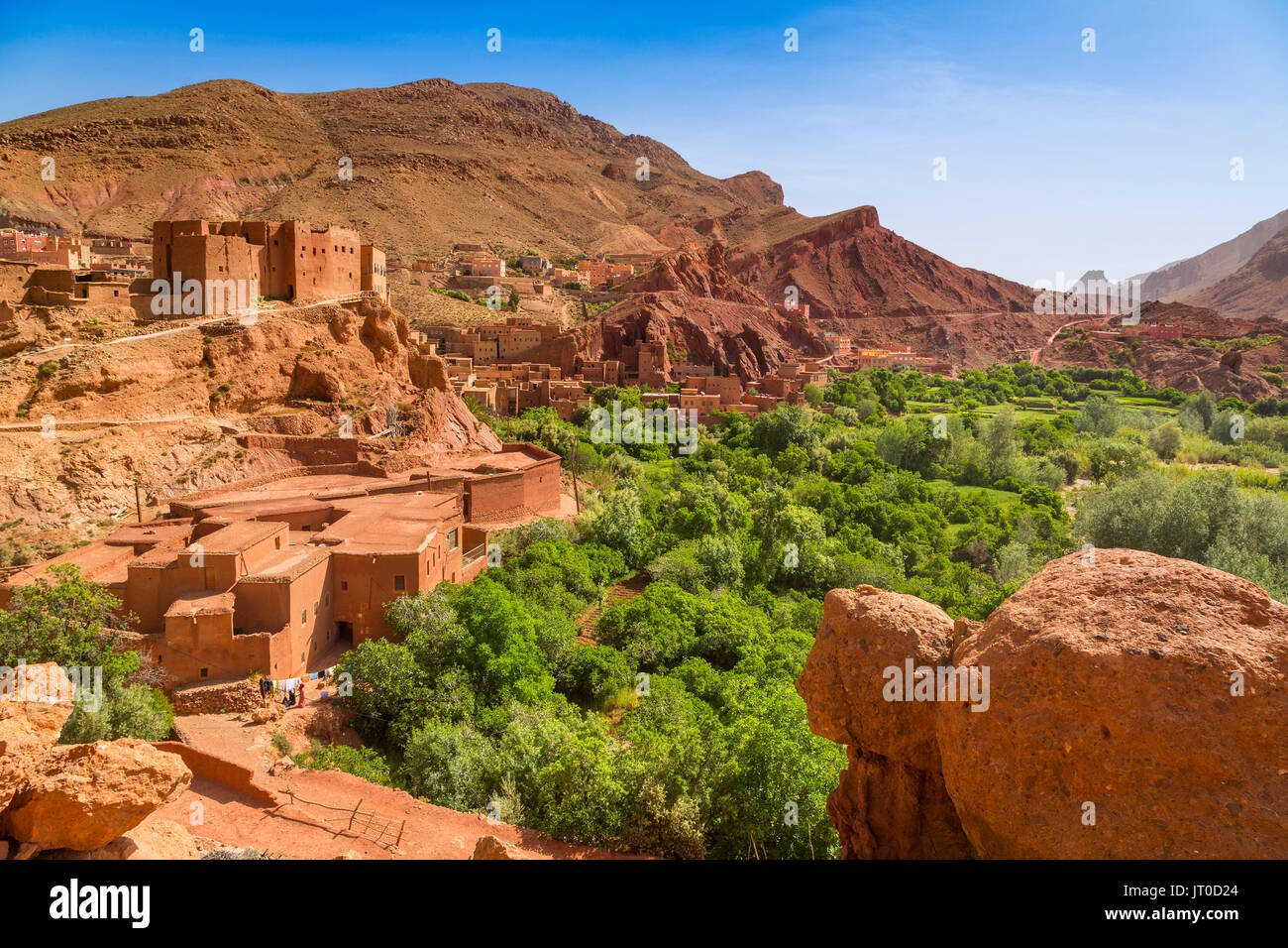 Dades Valley, Dades Gorges, High Atlas. Morocco, Maghreb North Africa - Stock Image
