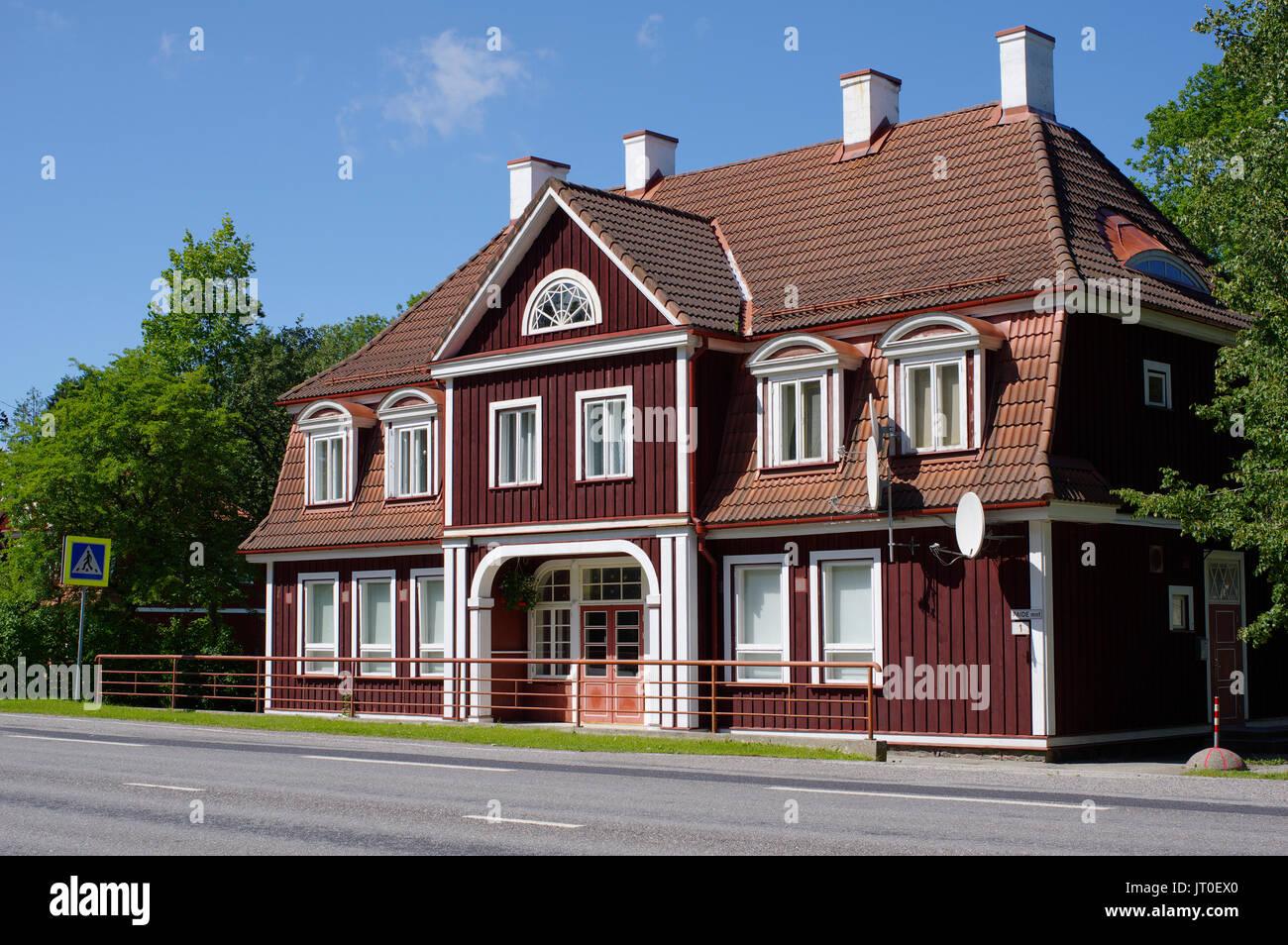 Old Sindi railway station. Estonia, Pärnu county 6th August 2017 - Stock Image