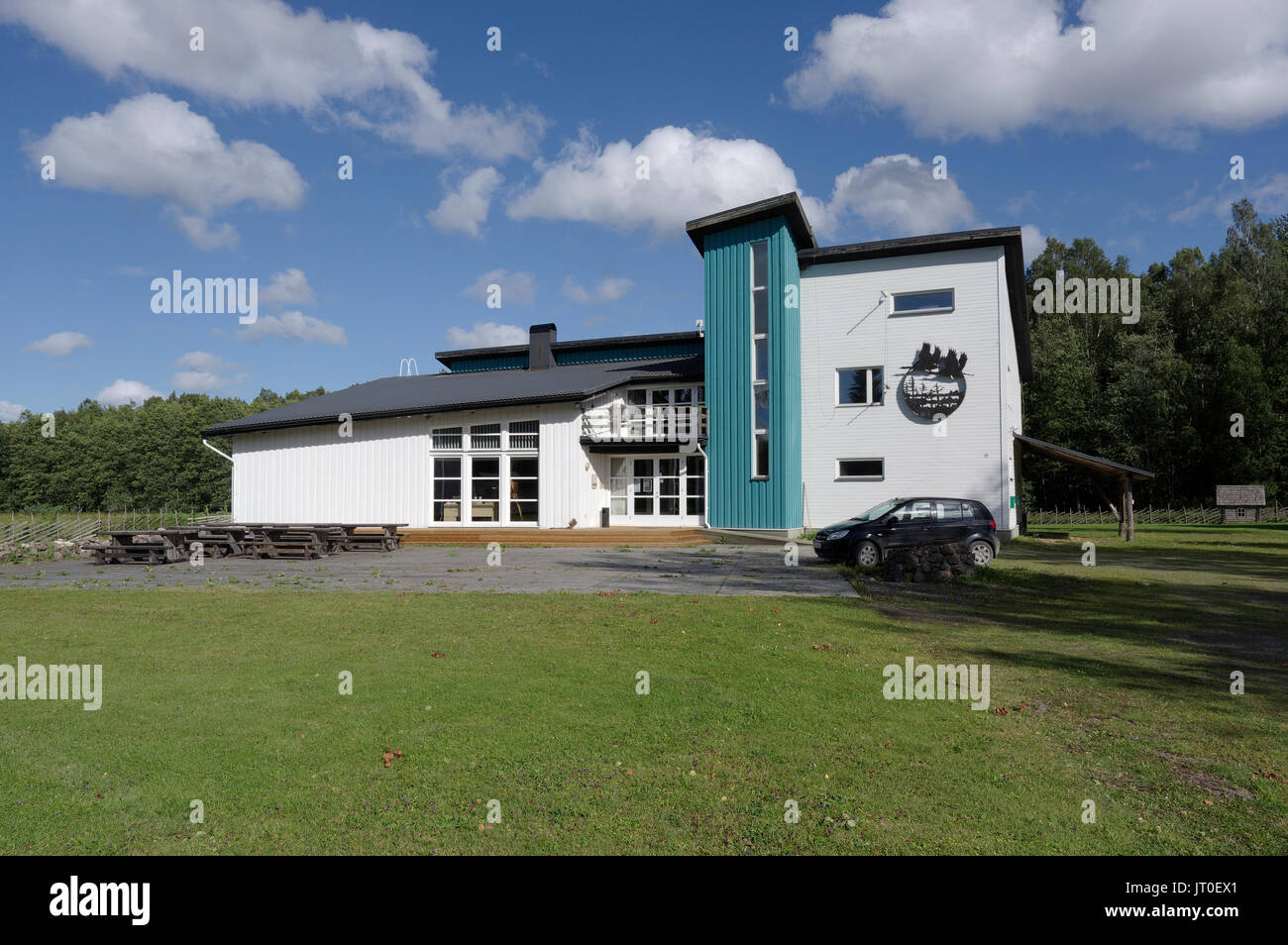 Soomaa National Park Visitor Centre. Estonia, Baltic States. 6th August 2017 Stock Photo