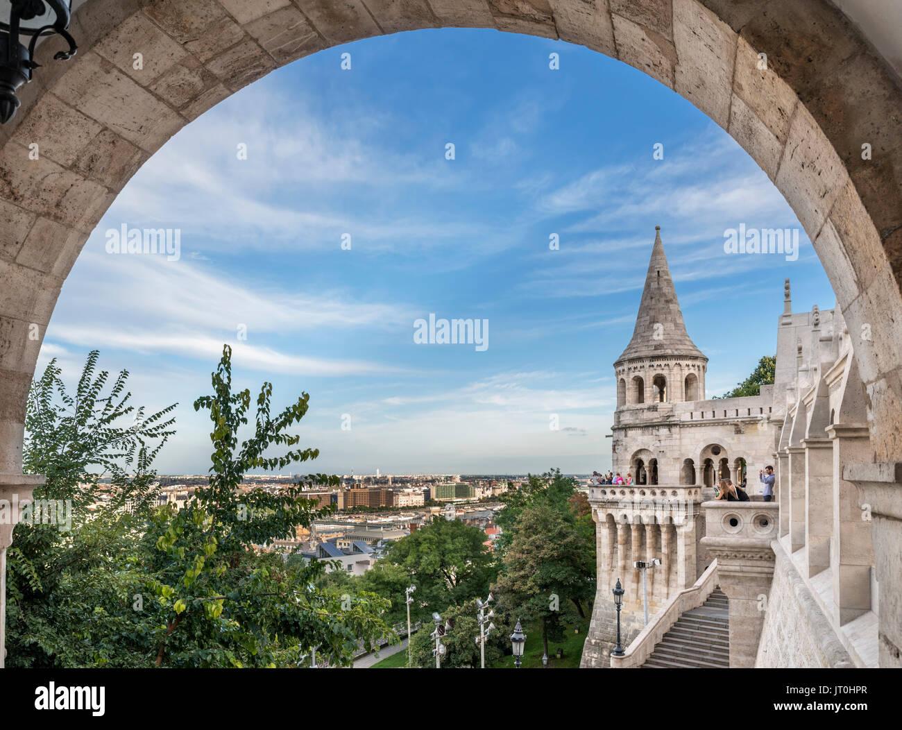 Fishermen's Bastion, Buda Castle district, Castle Hill, Budapest, Hungary - Stock Image