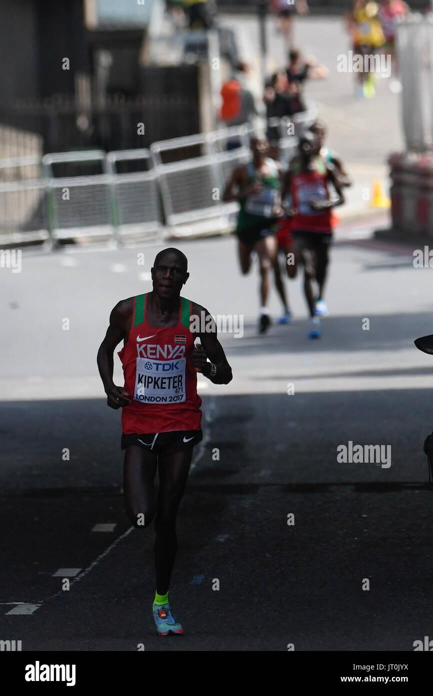 London, UK. 6th Aug, 2017. Gideon Kipkemoi KIPKETER, Kenya, during marathon in London on August 6, 2017 at the 2017 Stock Photo