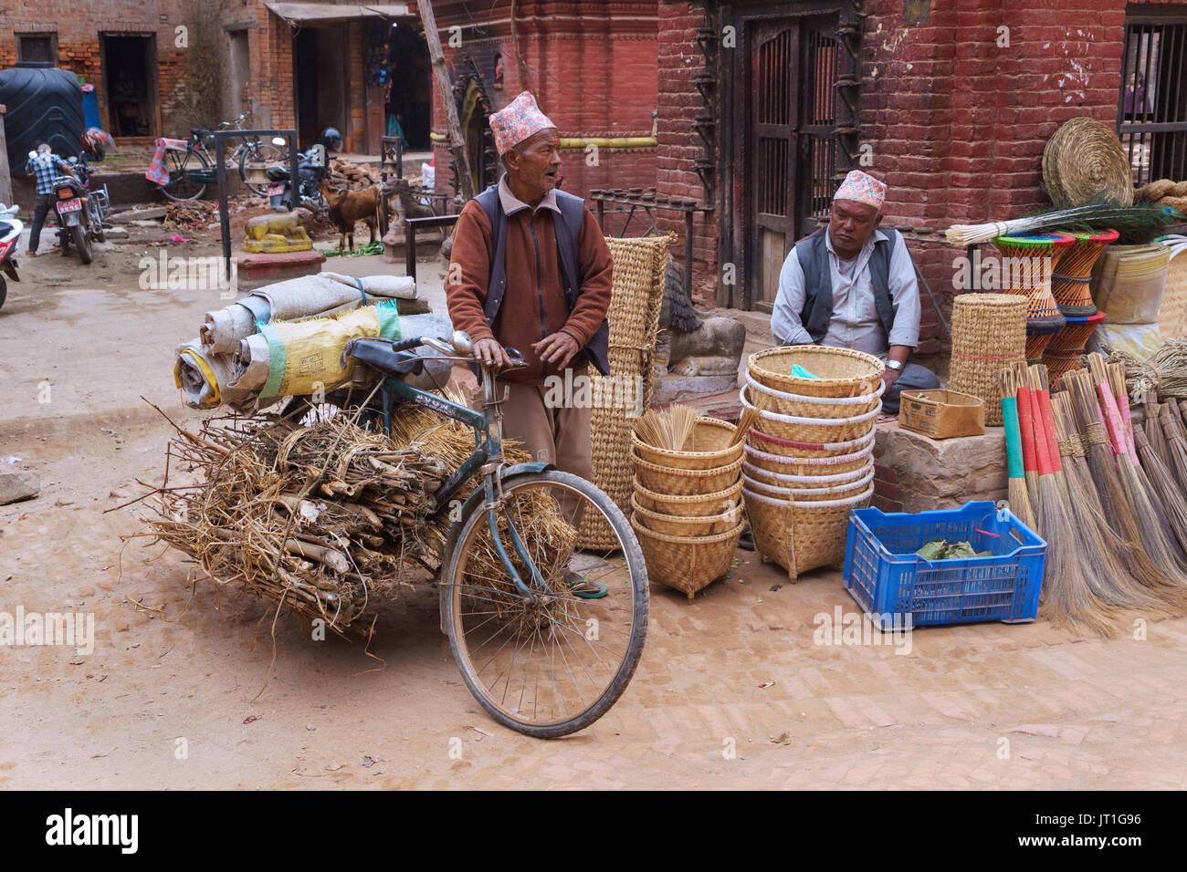 Street scene, Bhaktapur, Nepal. - Stock Image