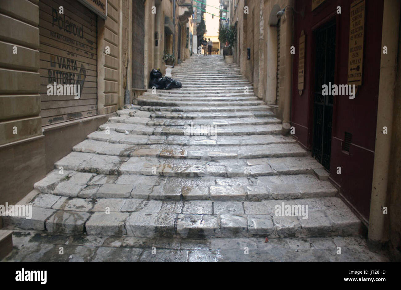 Strait Street, Valletta, Malta:  Most famous/infamous street; aka THE GUT; Pinnacle of nightlife for UK & USA military from 19th - mid 20th Centuries. - Stock Image