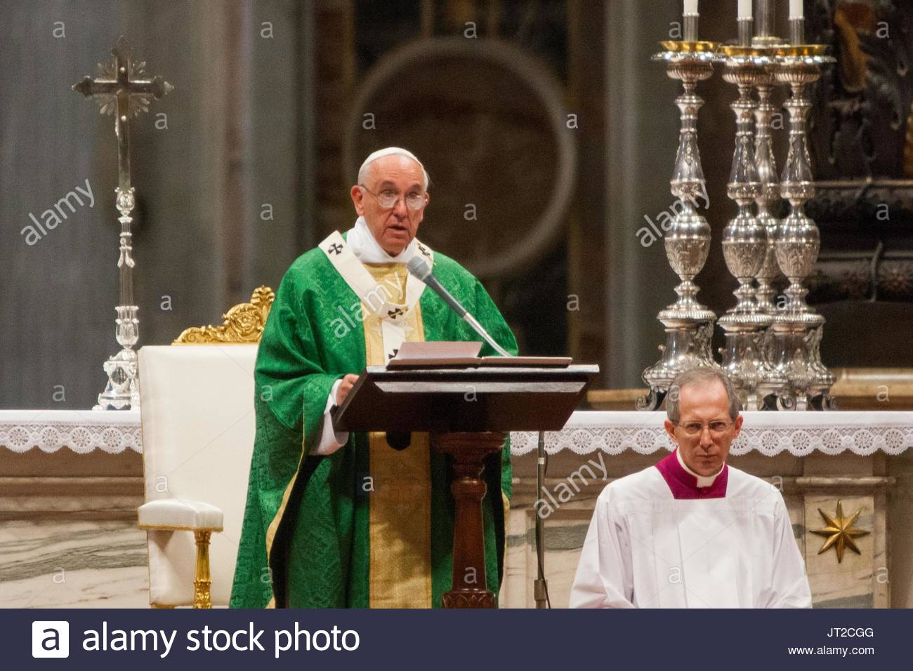 93514761cdfd Pope Francis. Pope Francis during the Holy Mass for the opening of the XIV  General Assembly of the Synod of Bishops in St. Peter s Basilica on October  04