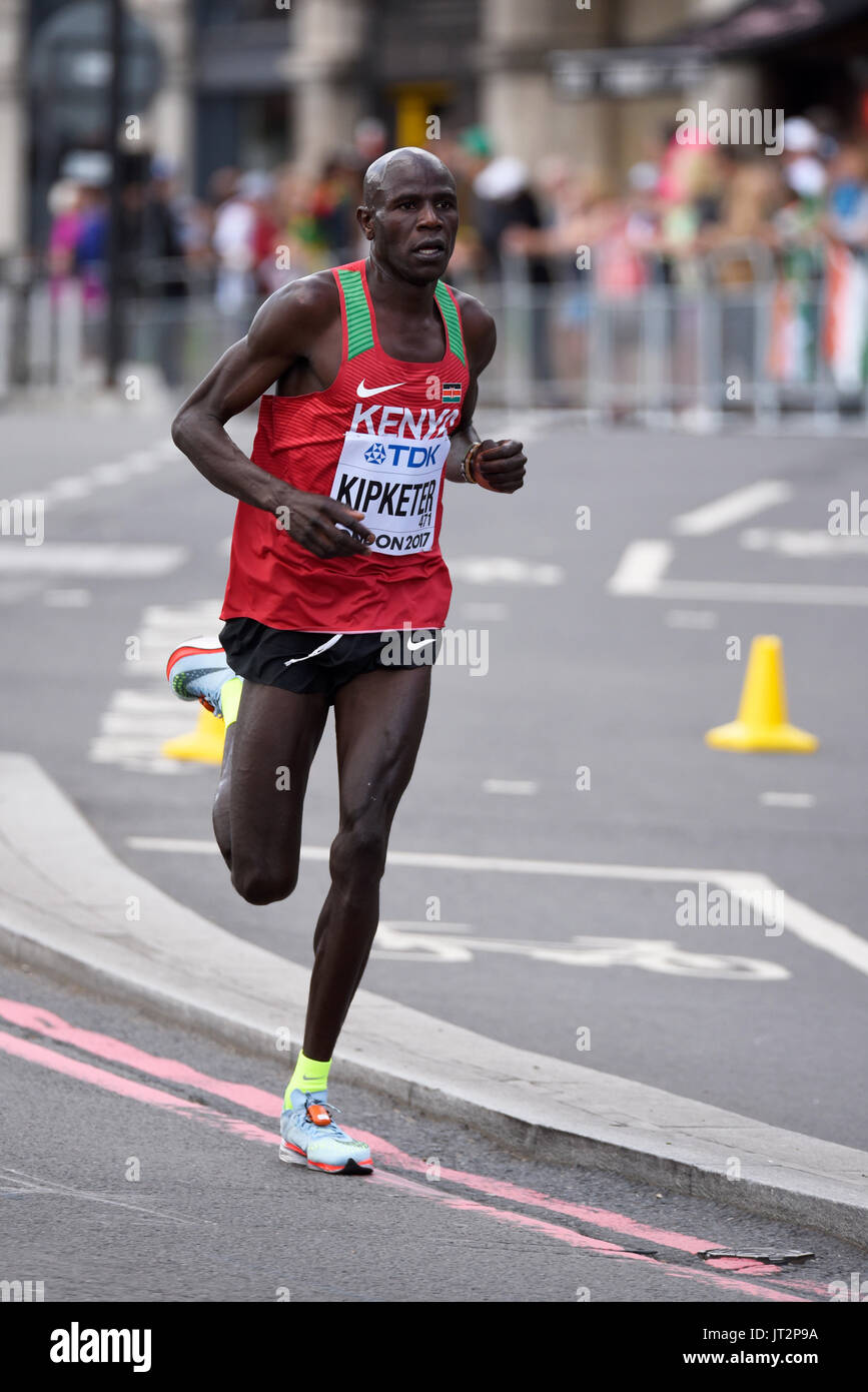 running in the IAAF World Championships 2017 Marathon race in London, UK. Space for copy - Stock Image