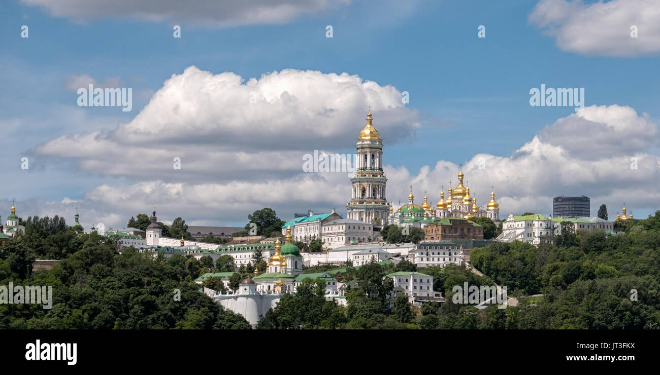 Panoramic view of the Kiev Pechersk Lavra Monastery complex in Kiev, Ukraine - Stock Image